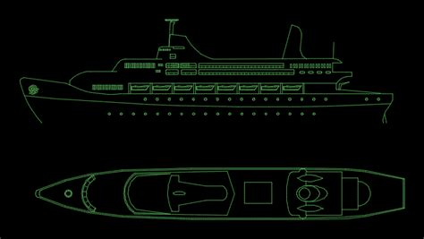 boat plans dwg boat in elevation and plan in autocad cad 46 73 kb
