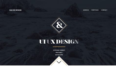 black website examples  dark side  web design