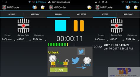 record while android system sound recorder android