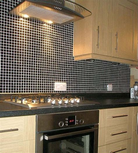 kitchen wall backsplash wholesale porcelain tile mosaic black square surface