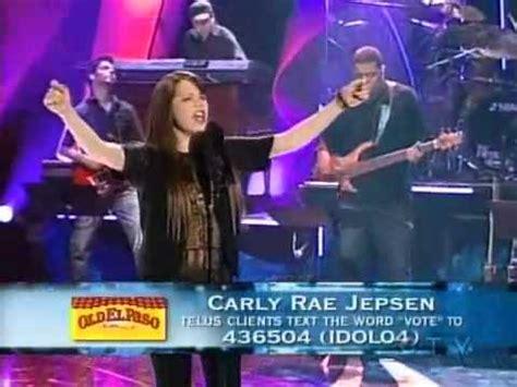 carly rae jepsen canadian idol carly rae jepsen come to my window youtube