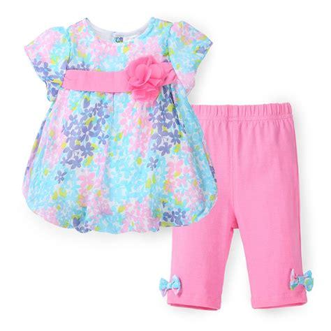 set kid flora cb summer baby clothing set floral top chiffon