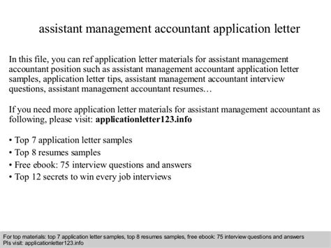 application letter accounting manager assistant management accountant application letter