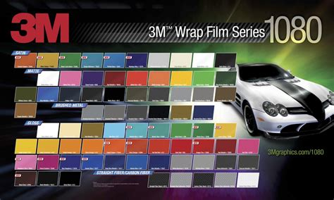 3m 1080 colors vinyl color wraps midwest autobahnd