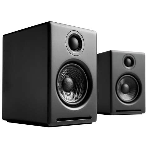 audioengine a2 2 75 quot powered desktop speakers black a2 b
