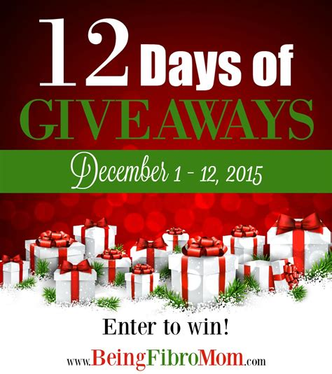 Days Of Giveaways - 12 days of giveaways day 5 being fibro mom