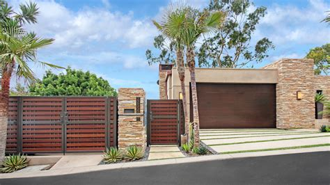 Mediterranean House Style bright driveway gate convention orange county contemporary