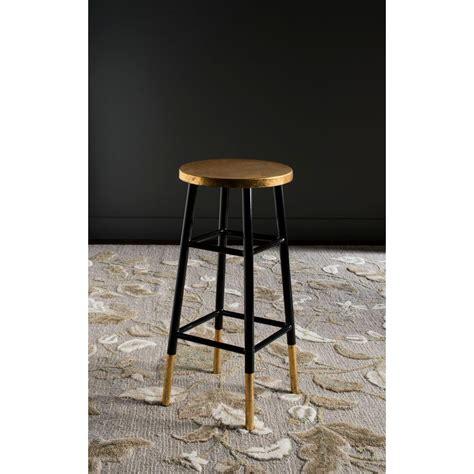 gold bar stools safavieh emery 30 in black and gold bar stool fox3230c