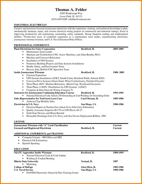 Electrician Job Resume by Electrician Skills For Resume Free Resumes Tips