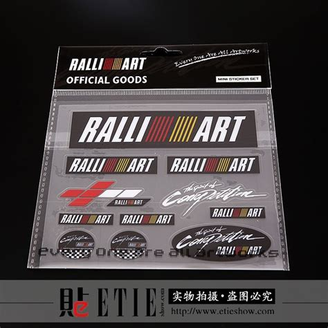 mitsubishi ralliart stickers popular ralliart sticker design buy cheap ralliart sticker