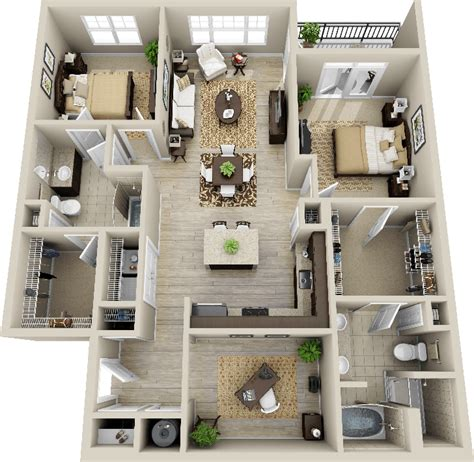 home design for 5 room flat 3d 2 bedroom apartment google search deco pinterest