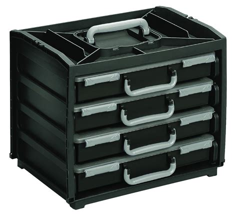 used portable 4 compartment raaco portable storage unit four 13 compartment assorter