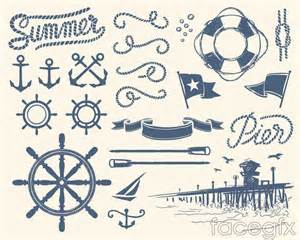 nautical design hand painted nautical design elements vector free download