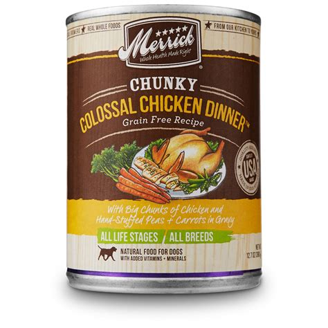 merrick canned food merrick chunky colossal chicken dinner canned food petco