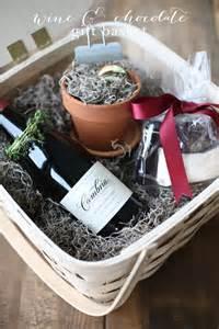 wine amp chocolate gift basket with lava cake gift mix