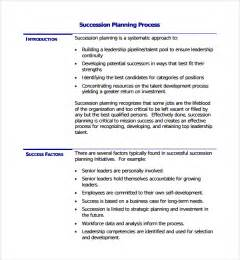 business succession plan template sle succession planning template 9 free documents in