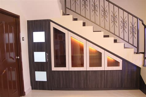 Cabinet Design Stairs by Hhh Contractor Renovation Penang Kedah