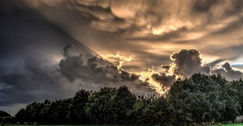 stock photo  clouds hdr nature