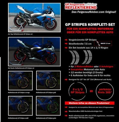 Felgenrandaufkleber Motorrad Ebay by Felgenrandaufkleber Reflektierend Gp Design Motorrad