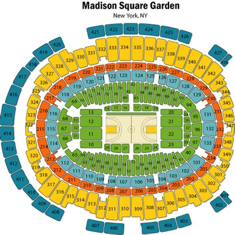 Square Garden Seating Map 2k sports college hoops classic november 17 tickets new york square garden 2k sports