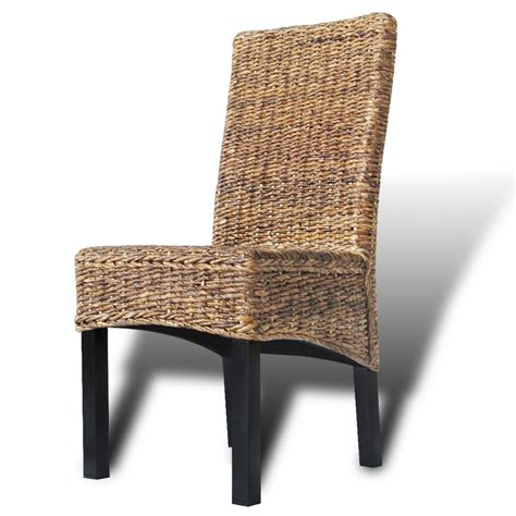 Handmade Dining Room Chairs - 6 pcs brown rattan wicker kitchen dining room chair solid