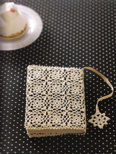 crochet lace motif book cover haken