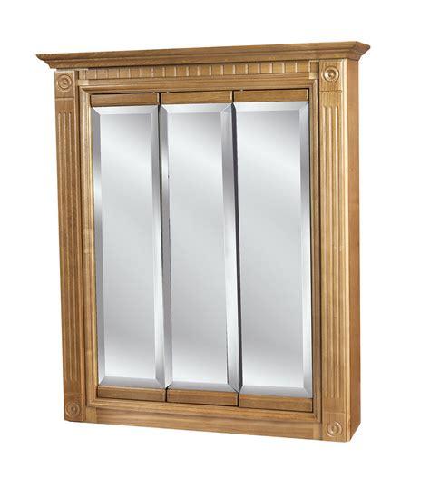 Medicine Cabinet by 30 X30 3 Door Mirrored Oak Medicine Cabinet Ebay