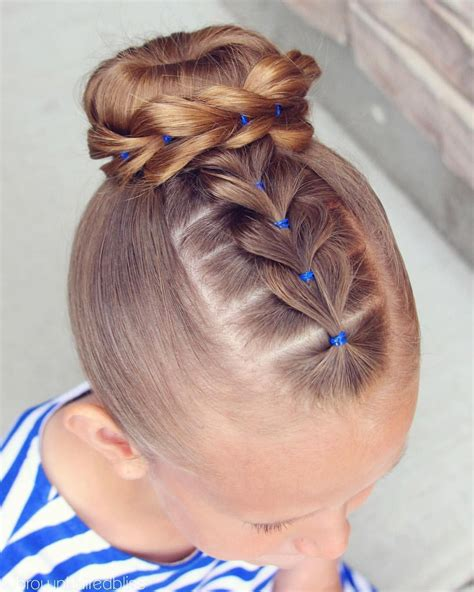 braid wrapped chignon updos cute girls hairstyles high bun with a pull through braid wrapped around i did a
