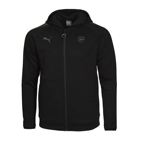 arsenal 17 18 black performance hoody official order