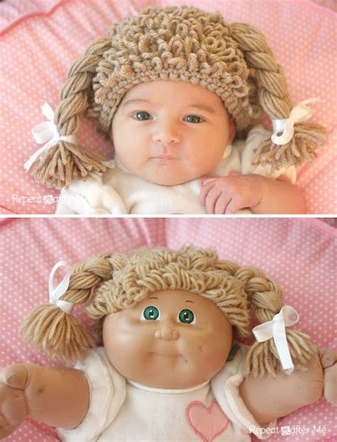 Free Cabbage Patch Hat Pattern | crochet cabbage patch doll hat an 80s revival