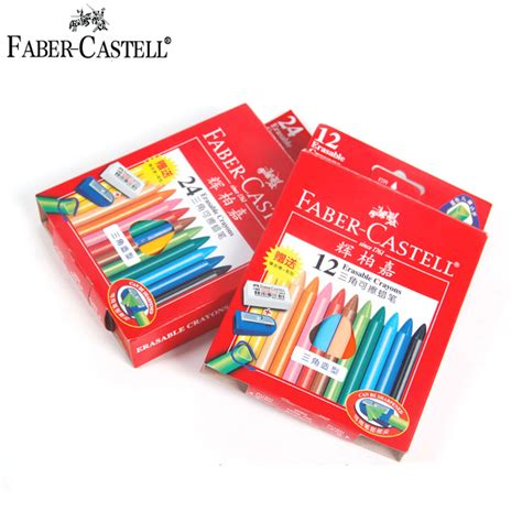Crayon Apik 12 Colour aliexpress buy german faber castell 12 24colors erasable crayons triangle crayon with