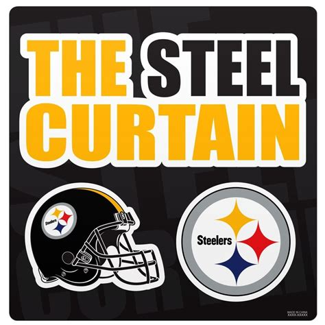 nfl steel curtain pittsburgh steelers nfl steel curtain team magnet set ebay