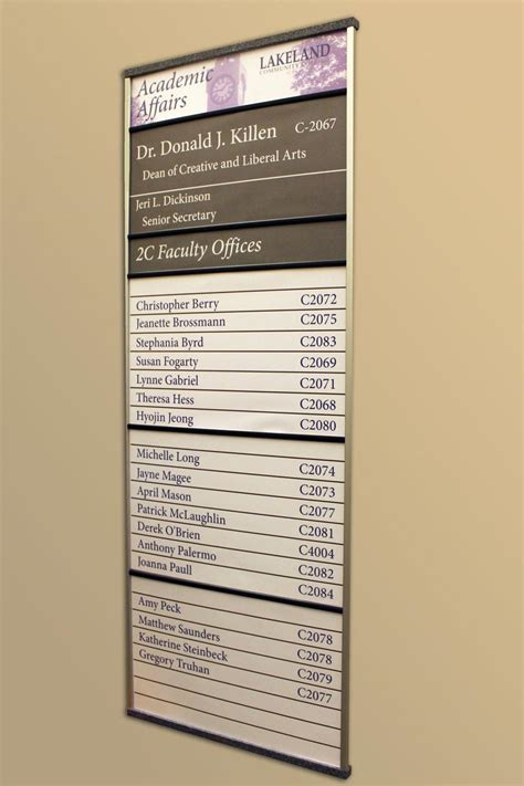 directory signs  interior building directory signage