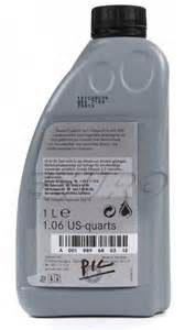 Mercedes Automatic Transmission Fluid Genuine Mercedes Auto Trans Fluid Atf 134 1 Liter