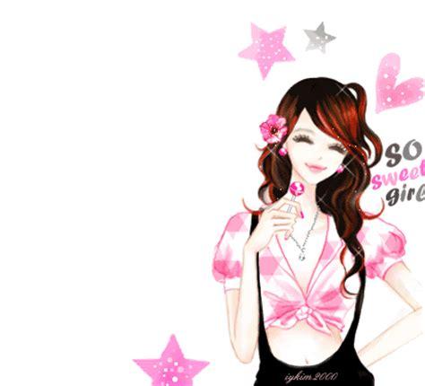 gambar kartun korea cewek cantik animasi bergerak korea lucu imut animasi bergerak lucu terbaru