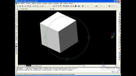 autocad javascript tutorial tutorial autocad realizzare solido con comando estrudi