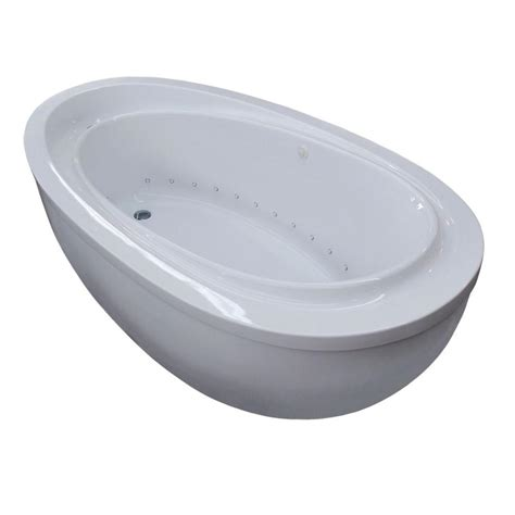 air bathtub reversible drain freestanding air bath tub