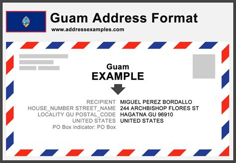 Www Address Guam Address Format Addressexles