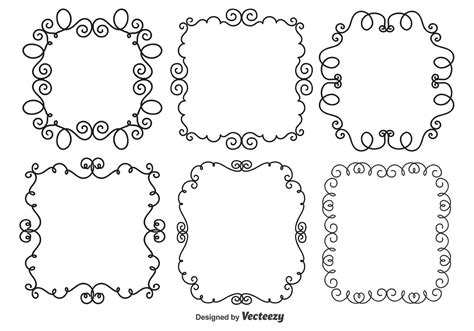 free doodle drawing doodle frames free vector stock
