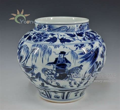 Antique Style Blue And White Vases In Vases From Home Garden On Aliexpress Alibaba Antique Style Yuan Dynasty Blue And White Vases Pot Urn With Gui Guzi Design China