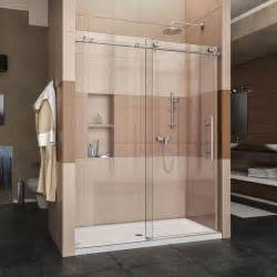 60 frameless shower door dreamline enigma x 56 in to 60 in x 76 in frameless