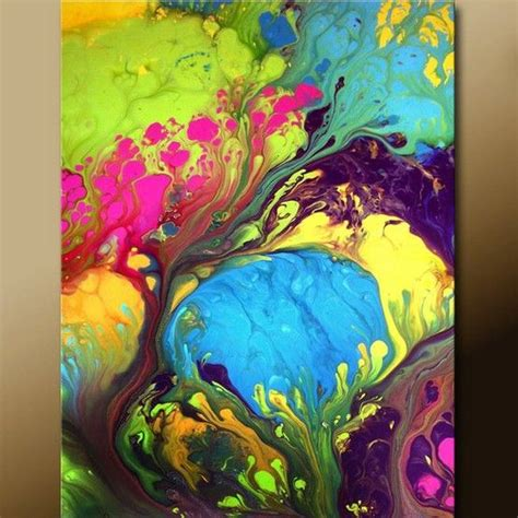 acrylic paint onto a canvas then submerge into water acrylic pouring just this artistic