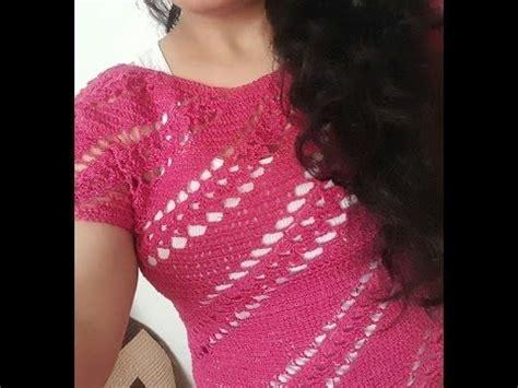 Blusa En Crochet Ganchillo En Punto Relieve Espiral | blusa en crochet ganchillo en punto relieve espiral