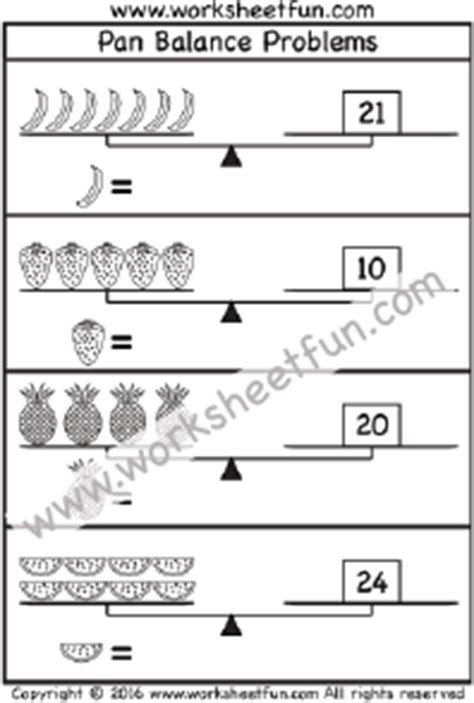 Pan Balance Worksheets by Fourth Grade Free Printable Worksheets Worksheetfun
