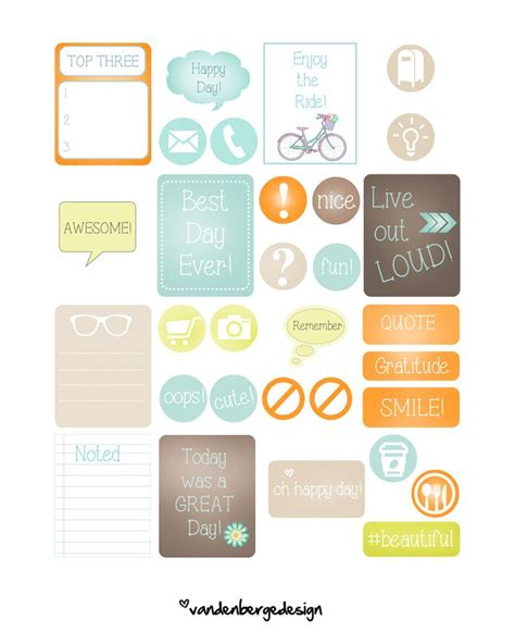printable notebook stickers 2205 best images about filofax on pinterest planner