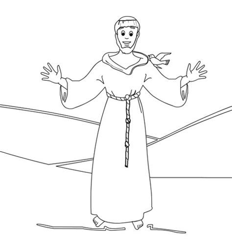 Saint Francis Of Assisi Coloring Page Coloring Pages St Francis Of Assisi Coloring Page