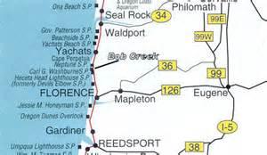 oregon 101 map bob creek wayside park oregon coast