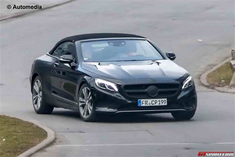 mercedes s class convertible mercedes s class convertible spied with less camo