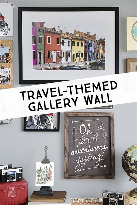 travel wall on pinterest travel gallery wall travel wall art and travel wall decor travel themed gallery wall live laugh rowe