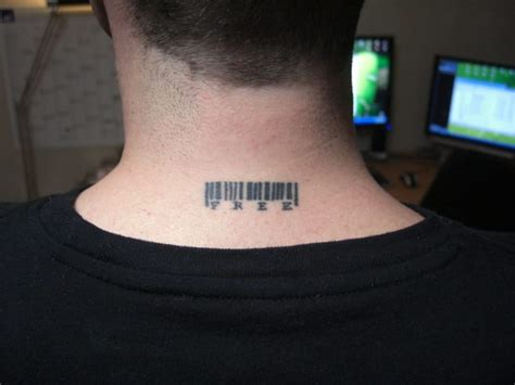 small tattoo on neck cost small neck barcode tattoo creativefan